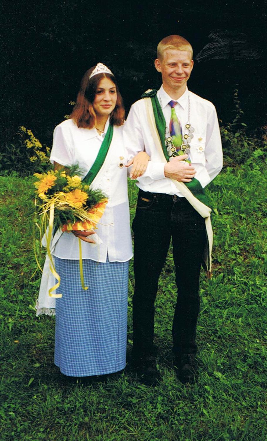 Jungschützenkönigspaar 1998: Mirko Wick und Daniela Schneider