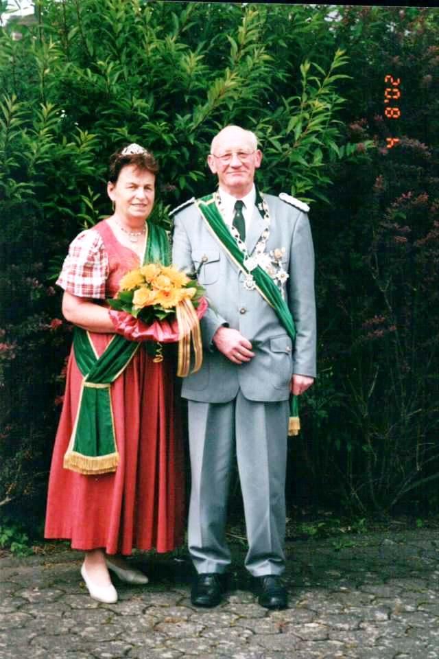 Schützenkönigspaar 2002: Paul und Hilde Messerschmidt