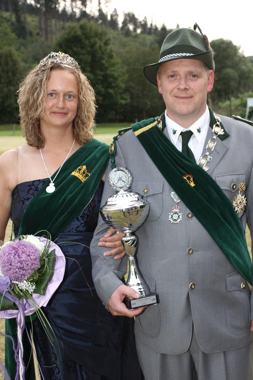Schützenkönigspaar 2012: Lorenz und Corina Heßler