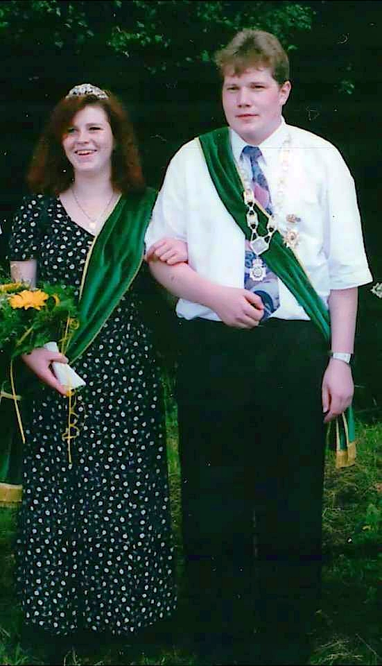 Schützenkönigspaar 1996: Wolfgang Dickel und Simone Wick