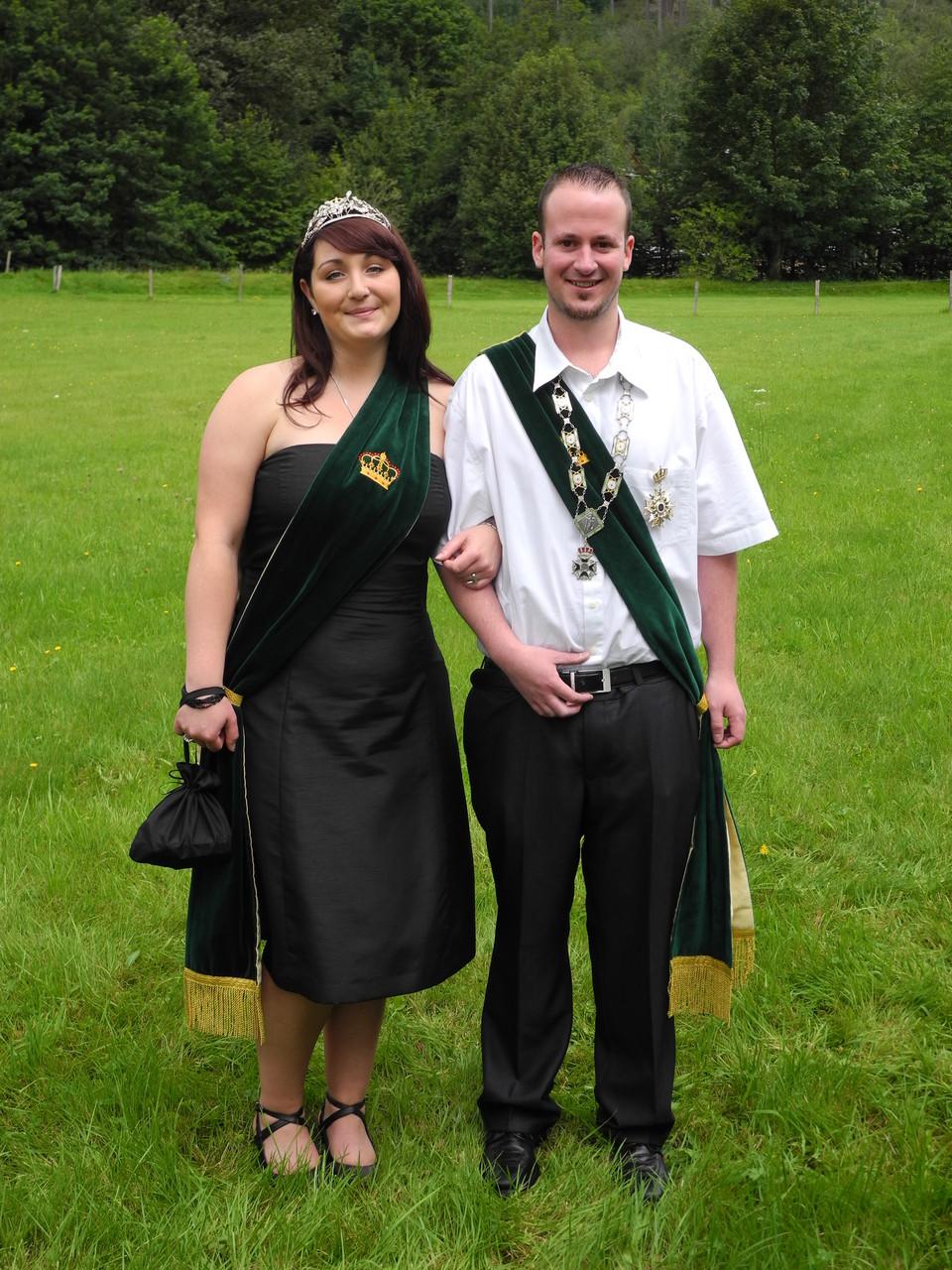 Schützenkönigspaar 2011: Dennis Roth und Kirsten Kuhli