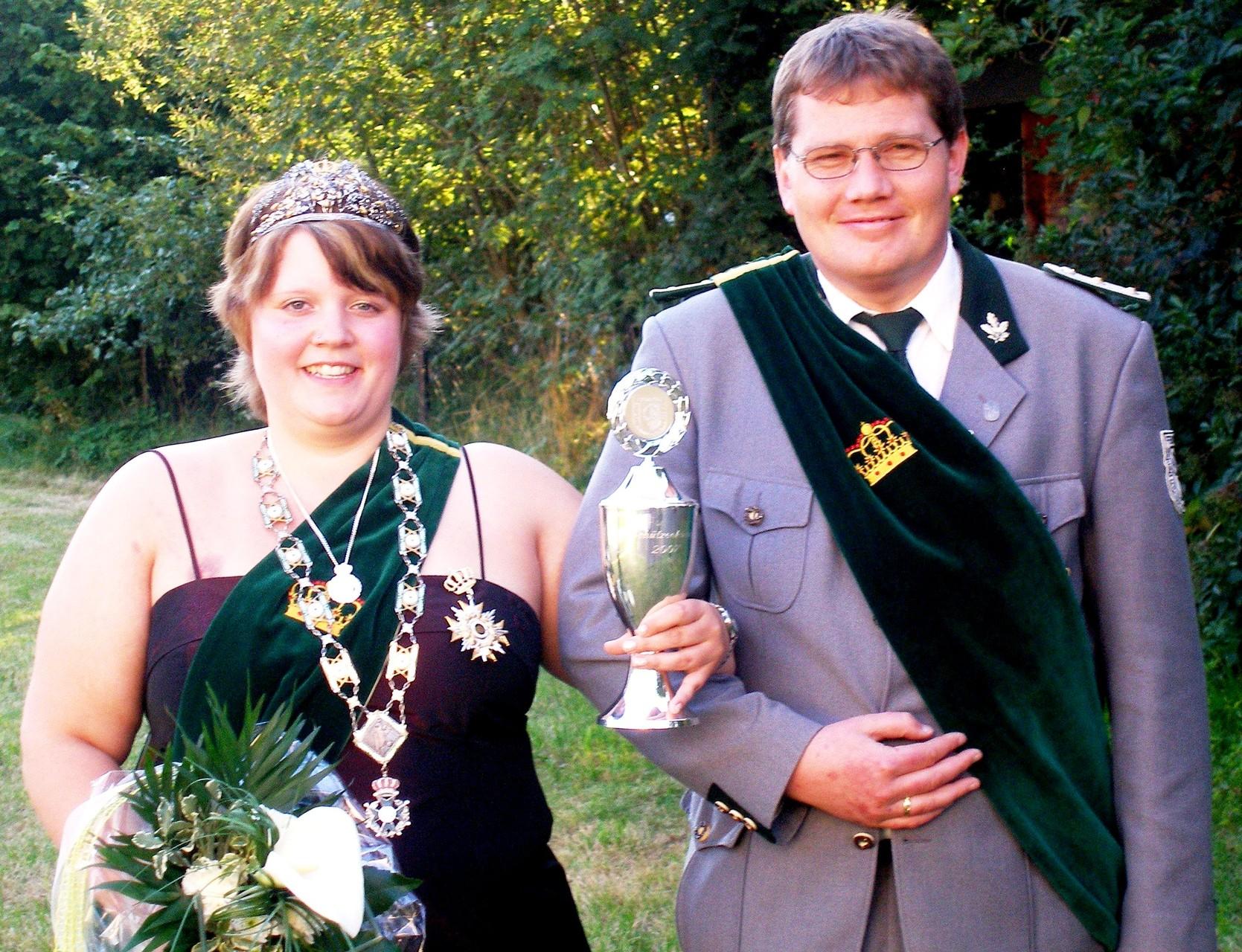Schützenkönigspaar 2007: Jennifer Bald und Prinzregent Wolfgang Dickel