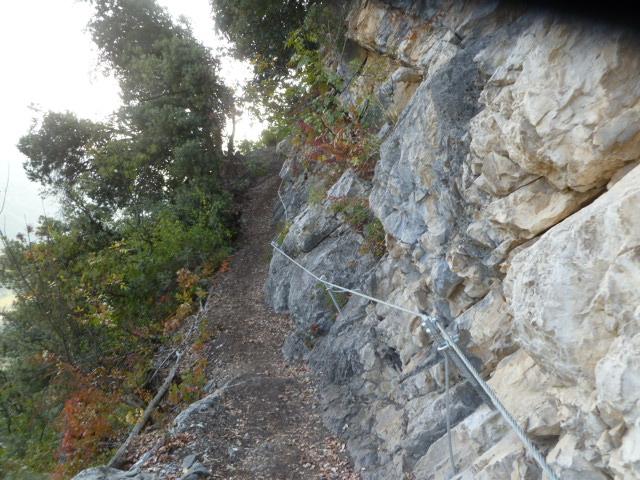 Der Abstiegsweg...