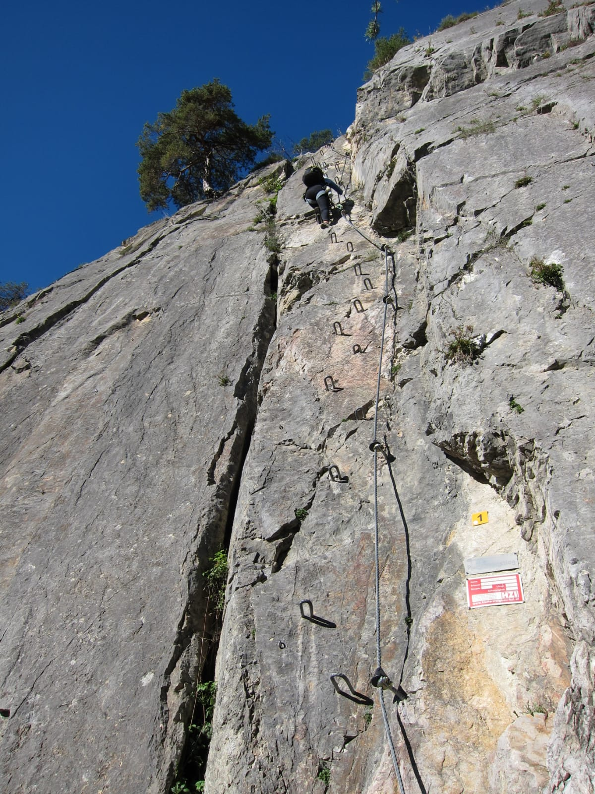 Zustieg über eine Klettersteigpassage