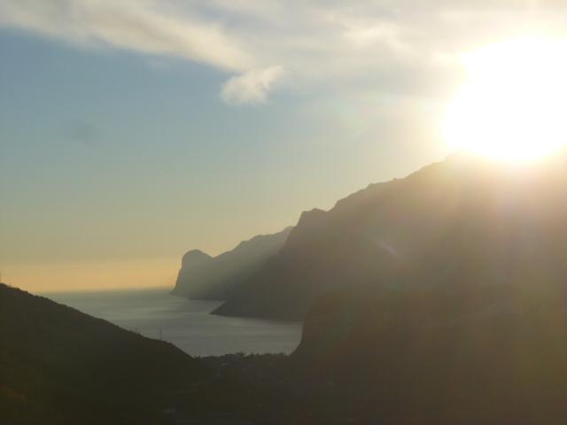 Fast schon kitschig... Sonnenuntergang am Gardasee
