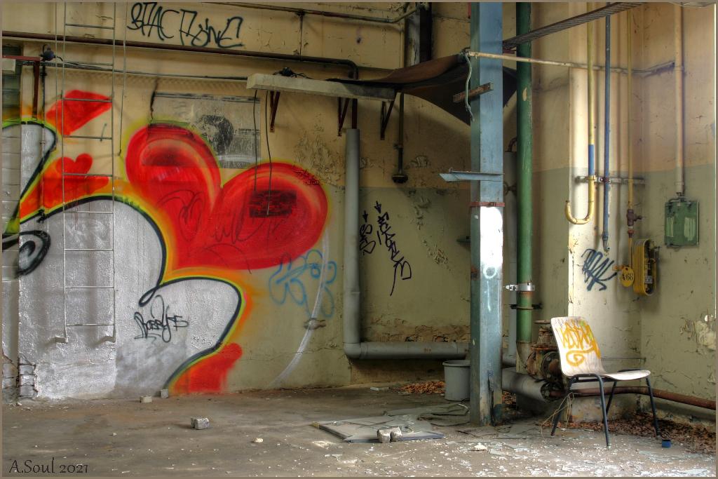 Sitzplatz mit Herz