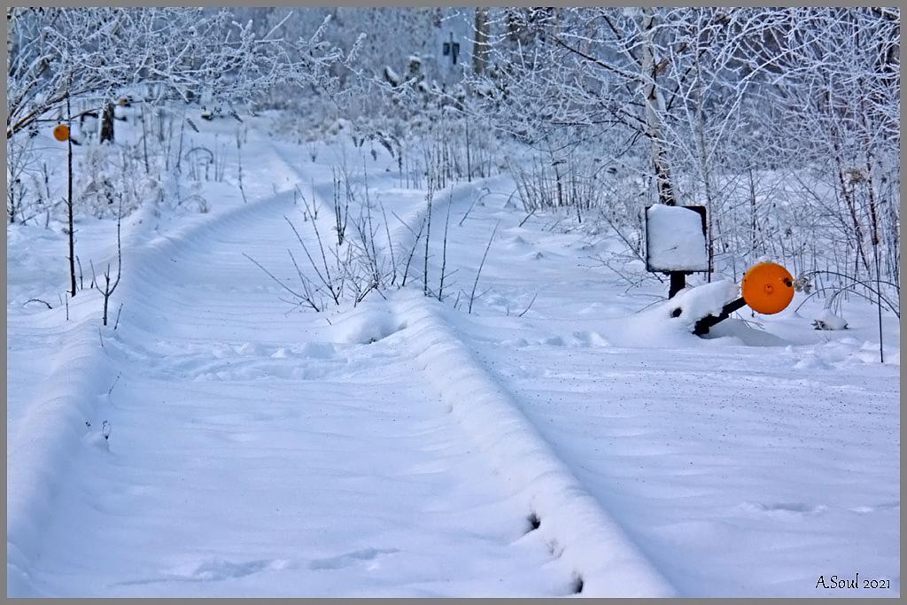 Die Weiche auf Schnee gestellt (BS Westbahnhof)