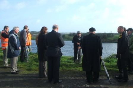 Blessing the site prior to construction starting