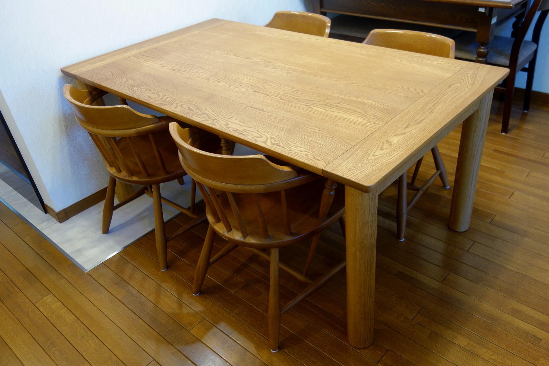 ナラの端嵌め式ダイニングテーブル(杉並区・K様邸)