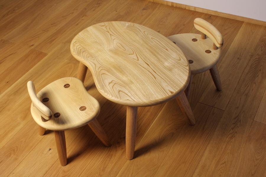 子供のそら豆テーブル&チェア