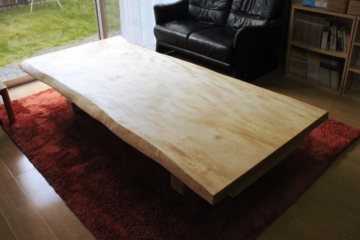 栃一枚板テーブル(座卓時)
