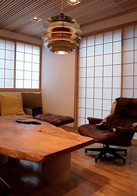 屋久杉一枚板のセンターテーブル(横浜市 T様邸)