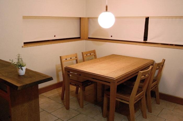 組み木のダイニングテーブルセット(野田市・S様邸)