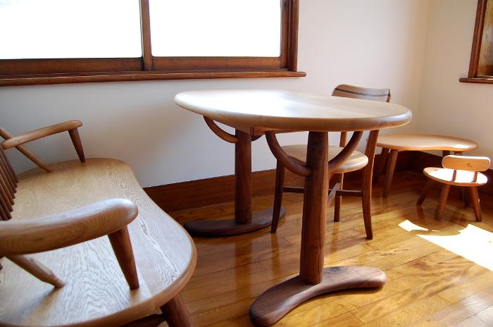 書斎で使うそら豆ダイニングテーブルセット(小田原市・I様邸)