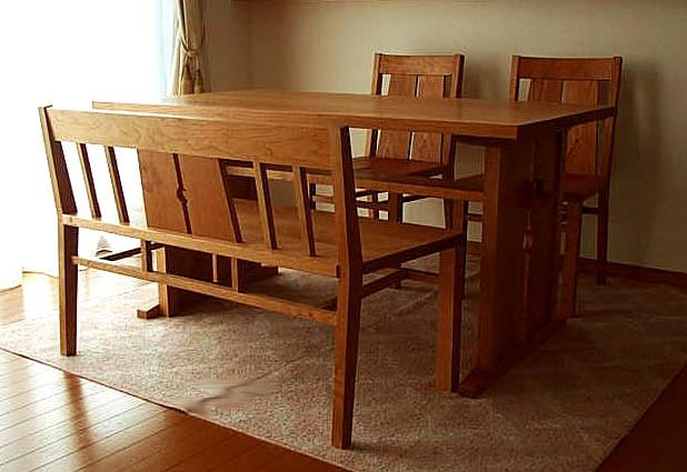 アメリカンチェリーのダイニングテーブルセット(高槻市・T様邸)