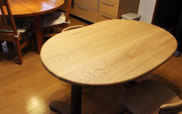 そら豆ダイニングテーブル(那智勝浦町・N様邸)