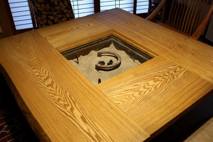 囲炉裏ダイニングテーブル(愛川町・Y様邸)