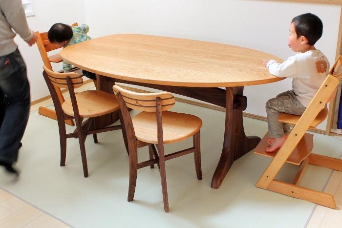 変形ダイニングテーブル(相模原市・M様邸)