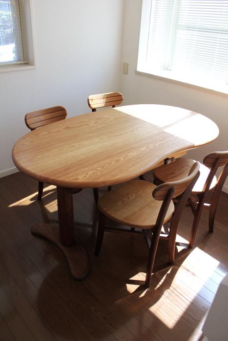 そら豆ダイニングテーブルセット(鎌倉市・K様邸)