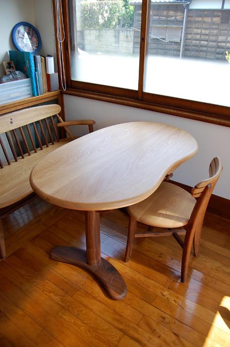 書斎で使う豆型テーブルのセット(小田原市・I様邸)