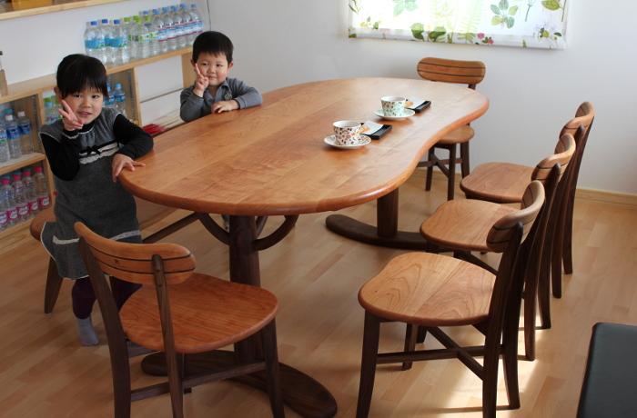 そら豆ダイニングテーブルセット(つくば市・Y様邸)