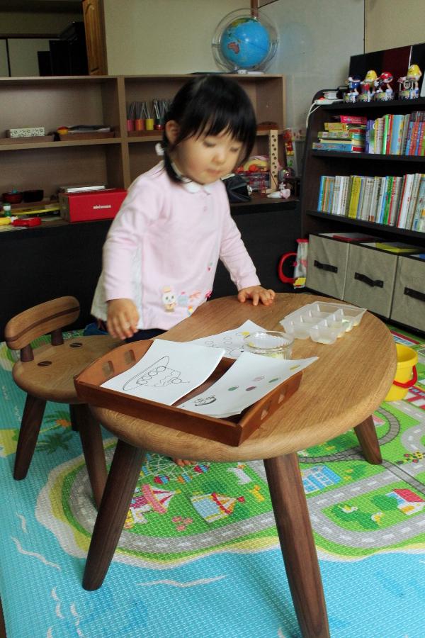 子供のそら豆テーブル&チェア(小平市・M様邸)