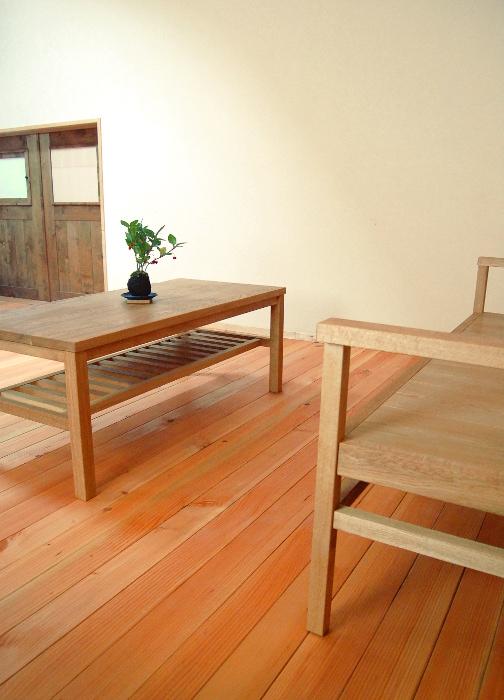 シンプルセンターテーブル(横浜市I様邸)