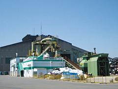 工場直結型シュレッダー設備