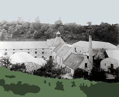 The Aberlour Distillery, much the same as it was in the late 19th century.
