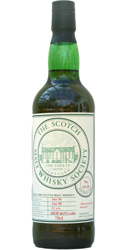 The Scotch Whisky Society 1996, 11yo, 60.5%, Sherry Butt