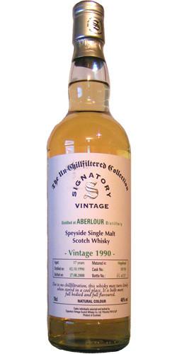 Signatory Uncillfiltered Collection 1990, 17 yo, >>>> cask 101769