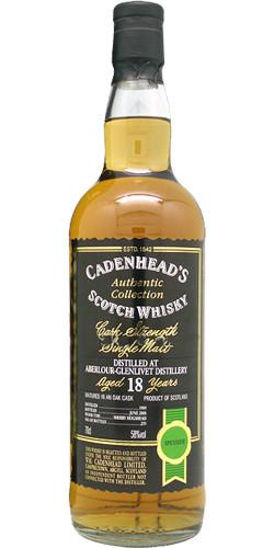 Cadenhead's AC 1989, Sherry Hoggi, 58.0%