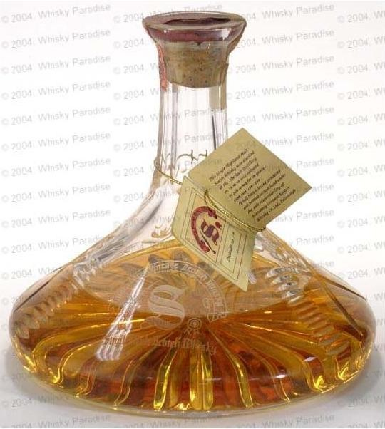 Crystal ship decanter - Distilled on 15/10/1970 - Matured in oak casks N. 236-239 - Stenciled label - Hang tag