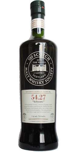 "Scotsh Malt Whisky Society ""YA BEAUTY"" 1996 - 12yo - 61.1% - 758 bottles"