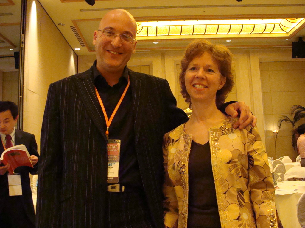 Me with Linda Naiman, a unique creativity coach from Canada.