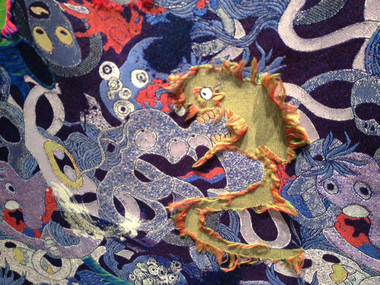 寺木さん 生地 オリジナル 織物 加工 糸浮かし