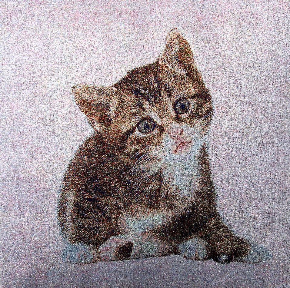 猫  no.N-3  w40*40cm