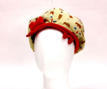 学生 帽子 織