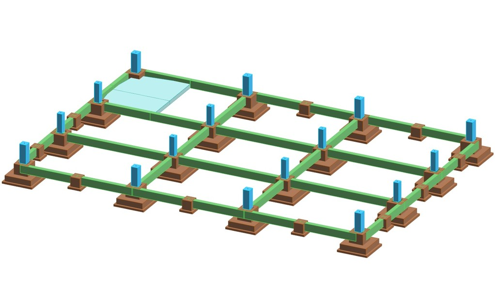 Progettazione strutturale in c.a.p. di un capannone commerciale (900 mq)