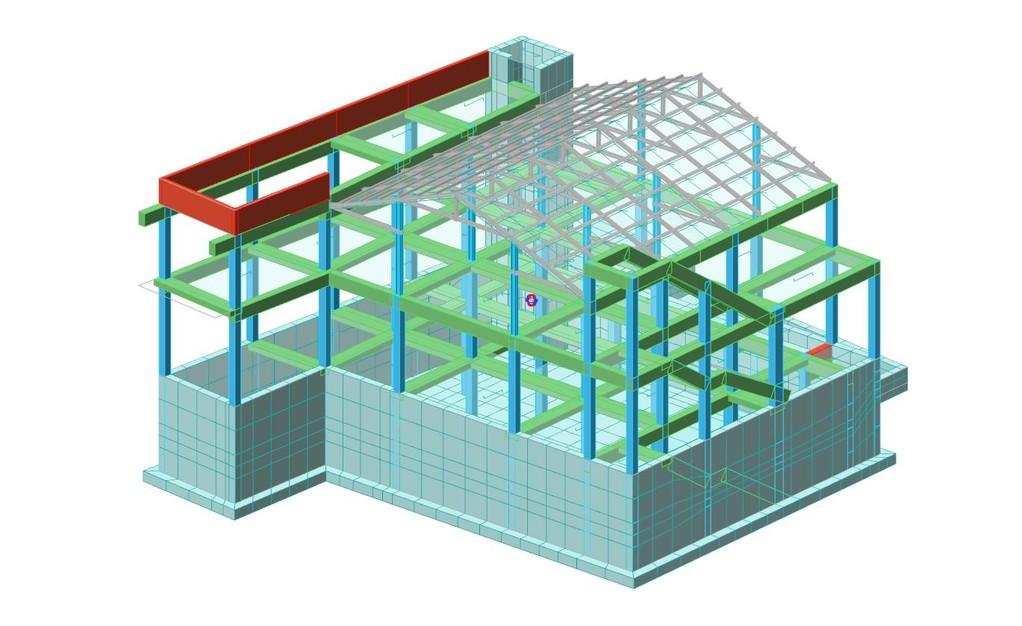 Progettazione strutturale in c.a. ed acciaio di una palazzina commerciale