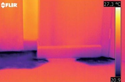 Umidità pavimento visibile solo agli infrarossi