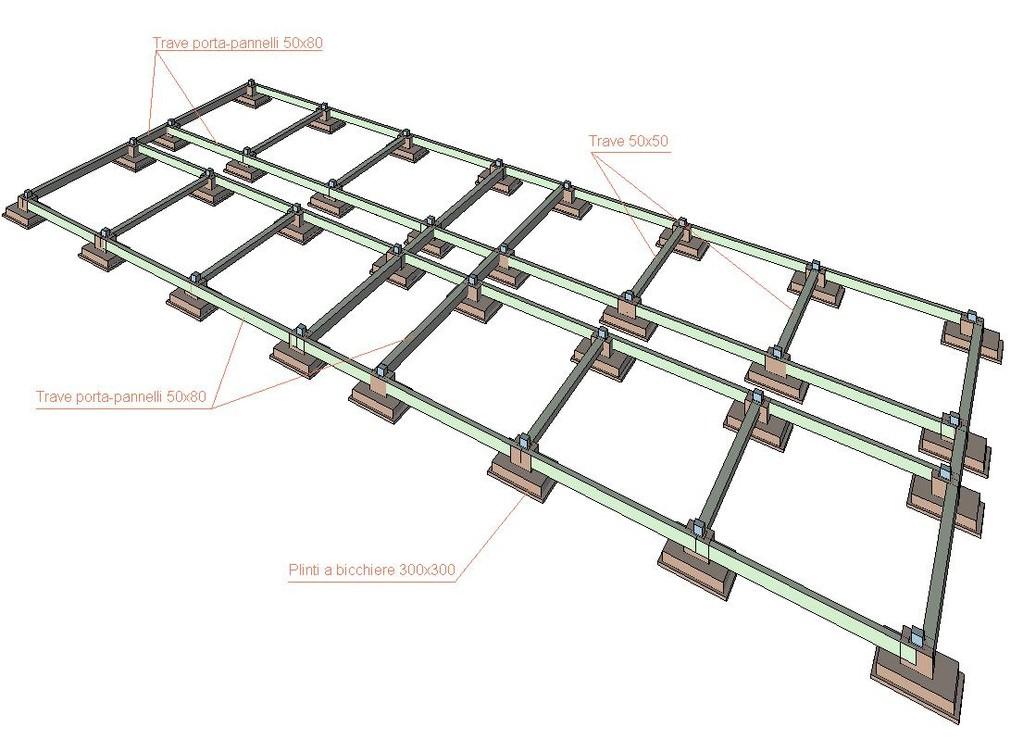 Progettazione strutturale in c.a.p. di un capannone commerciale (2500 mq)