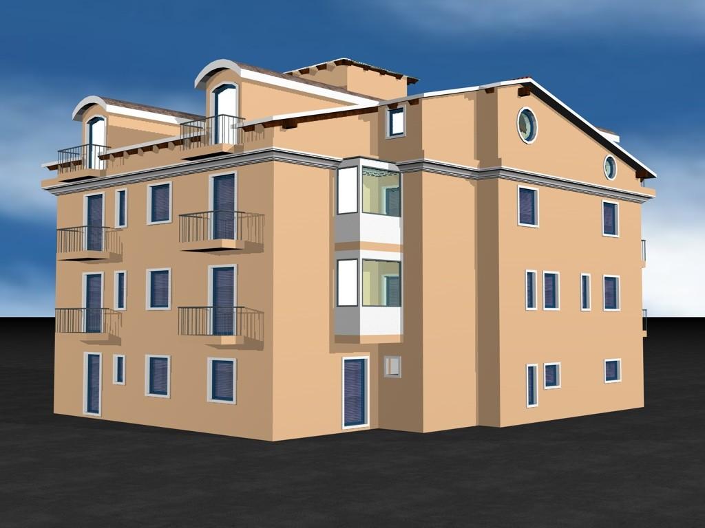 Rendering per i lavori di ristrutturazione edilizia di un immobile per civile abitazione