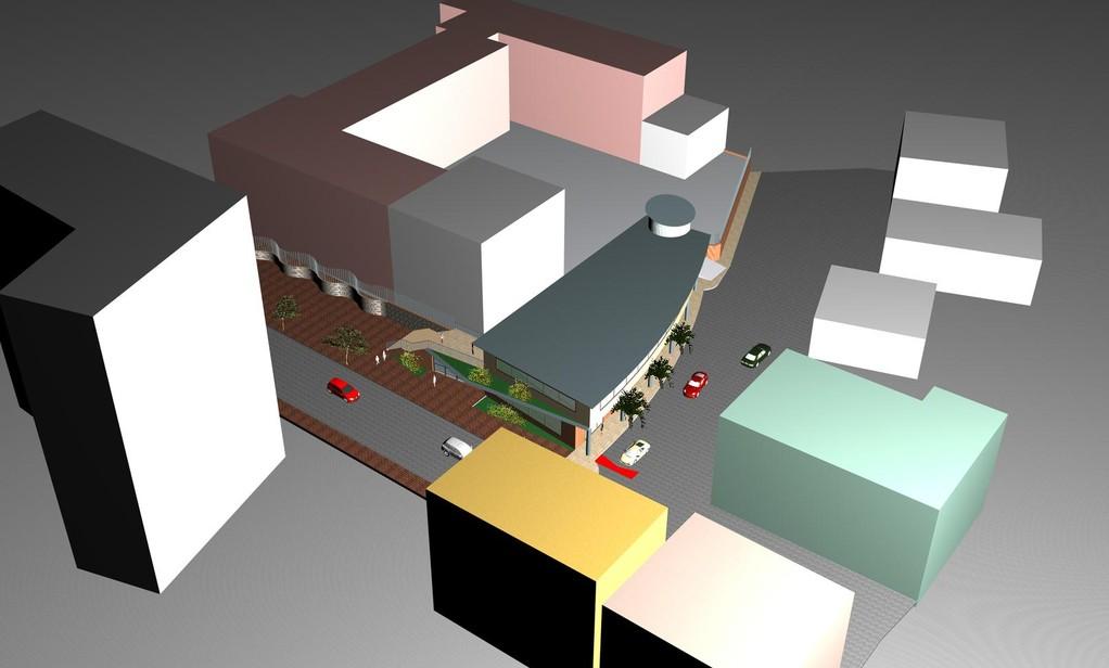 Lavori di costruzione di una palazzina polifunzionale