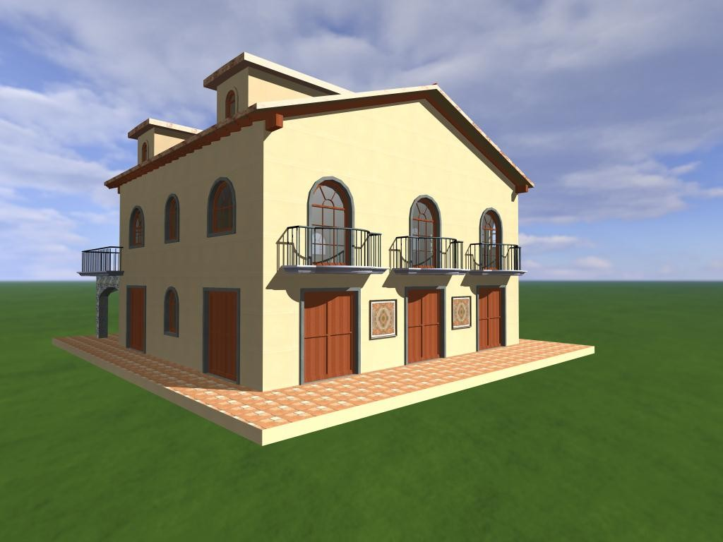 Agropoli: rendering per i lavori di costruzione di una casa colonica