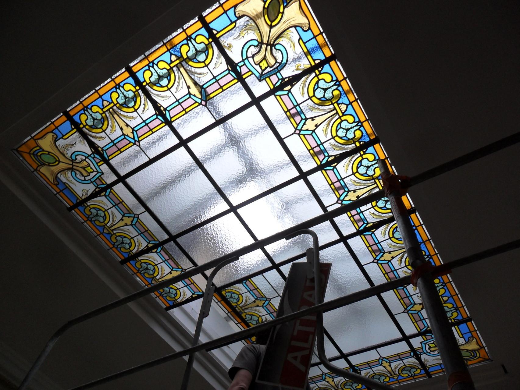 verrière de plafond- Hotel particulier-Montpellier