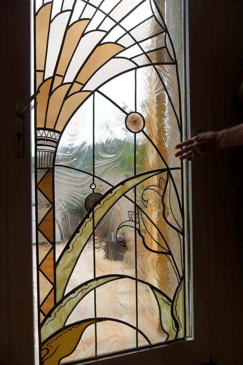 vitrail au palmier-art du vitrail- Millau 12