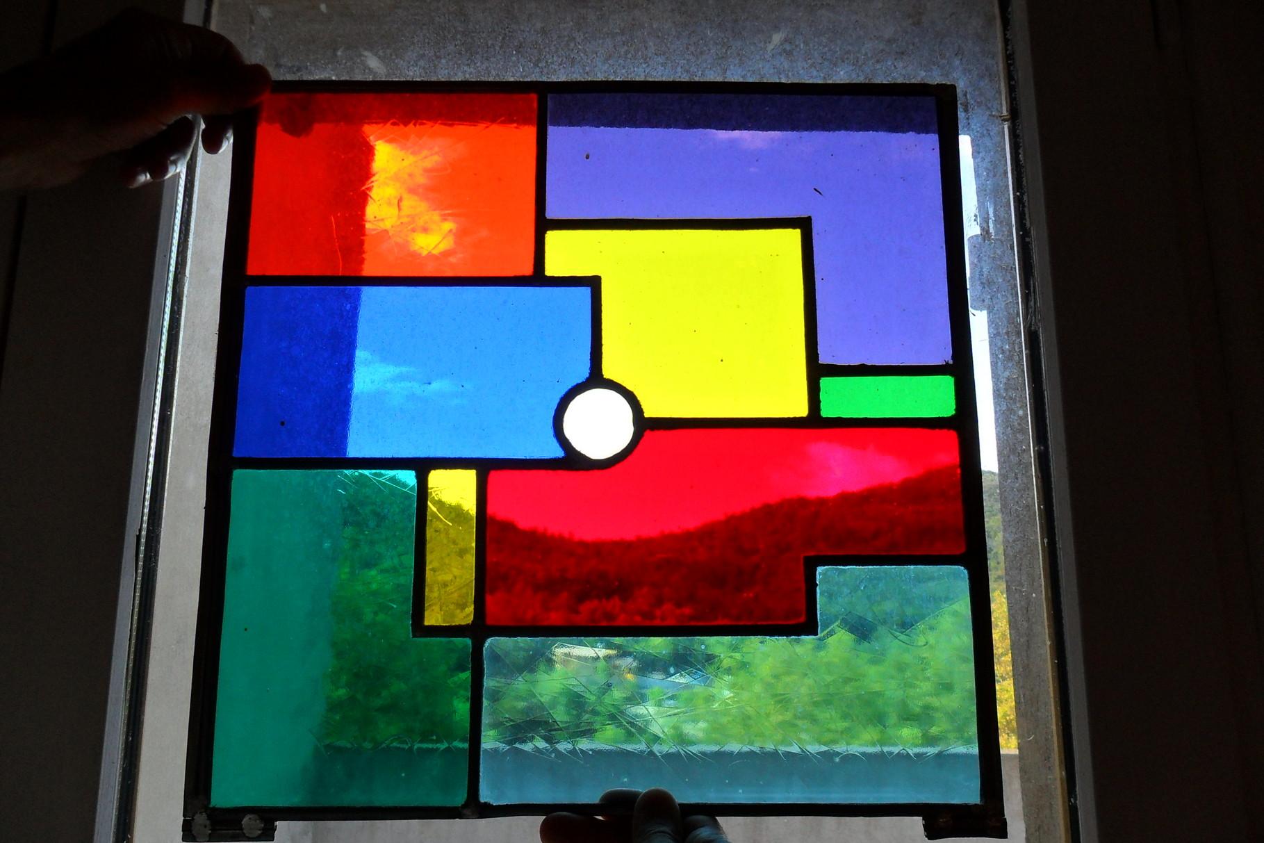 Vitrail coloré pour une expo photos -Paris 75