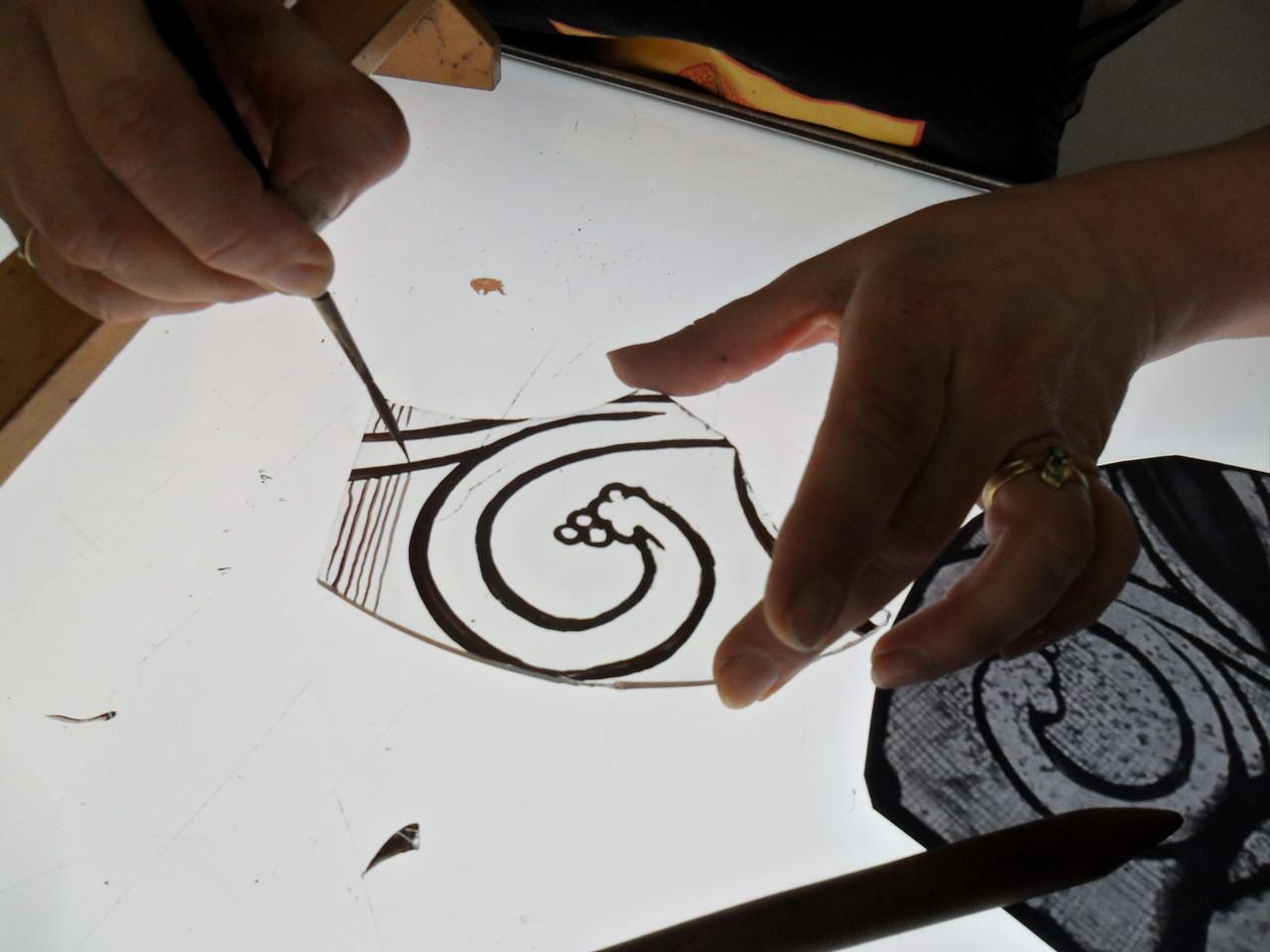 peinture sur table lumineuse