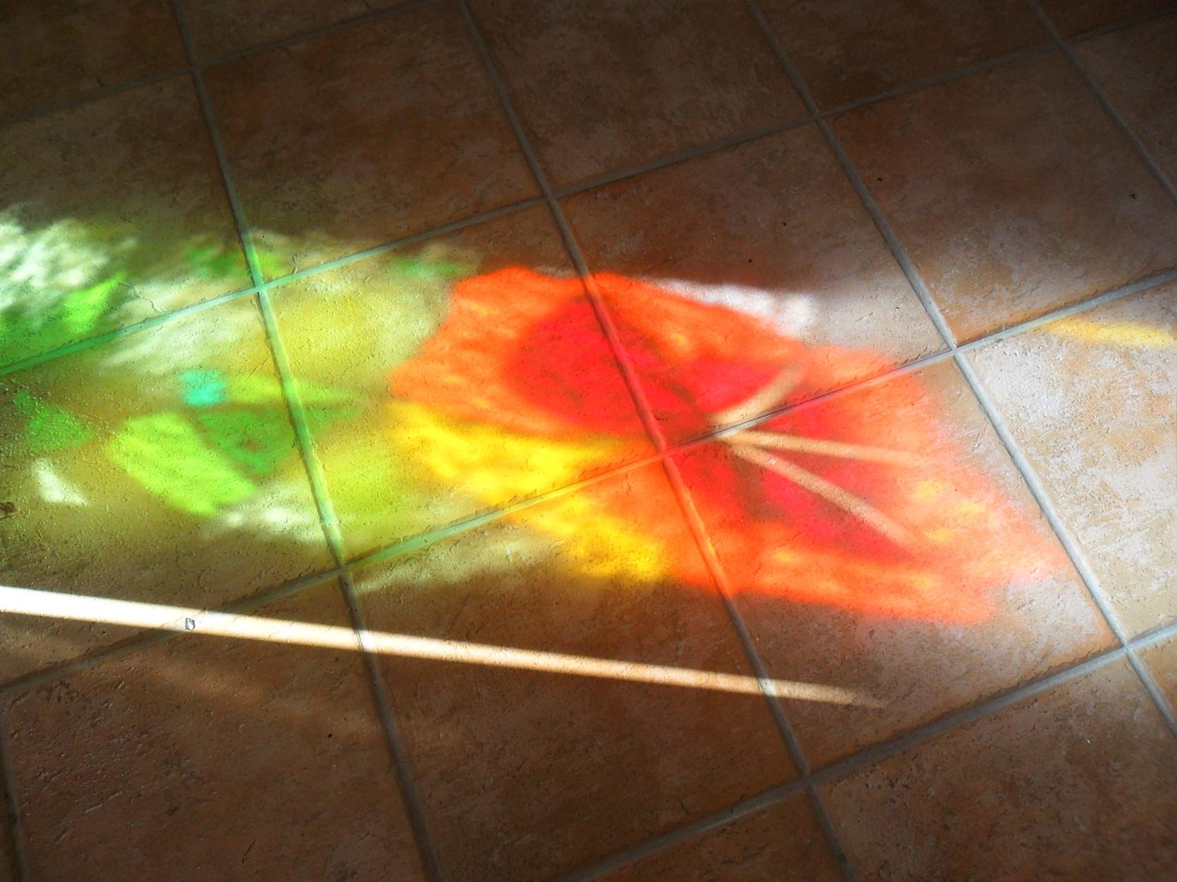 reflet vitrail hibiscus-Art du Vitrail